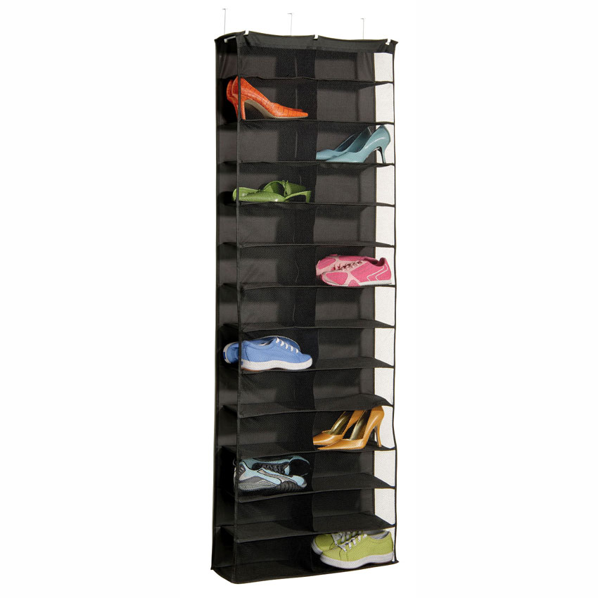 Over The Door 26 Pocket Shoe Rack In Over The Door Shoe Racks