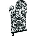 Kitchen Oven Mitt - Black Damask