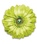 Magnetic Lime Green Locker Decor Flower