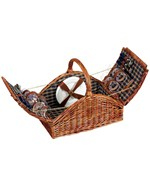 Arched Wicker Picnic Basket - Service for Four