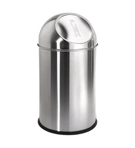 Round Stainless Steel Trash Can - 2.6 Gallon Image