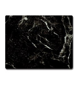 Tempered Glass Cutting Board - Black Marble Image