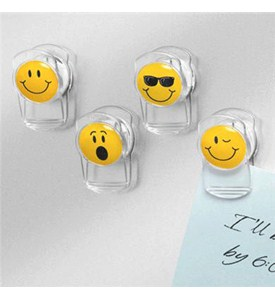 Smiley Face Clips - Magnetic Image