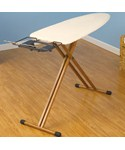 Bamboo Ironing Board with Iron Rest