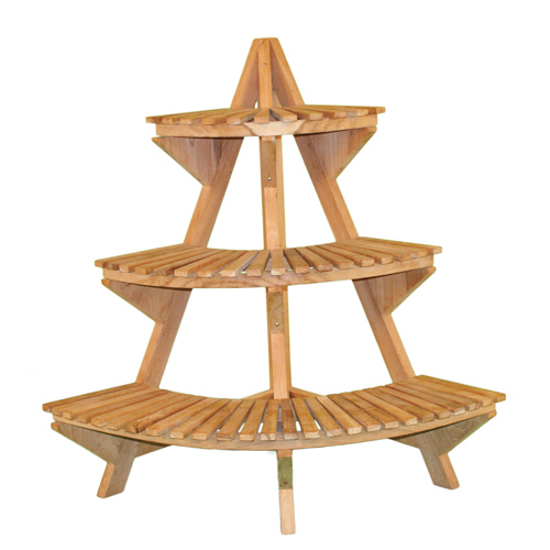 Teak wood plant stand in garden plant stands How to build a tiered plant stand