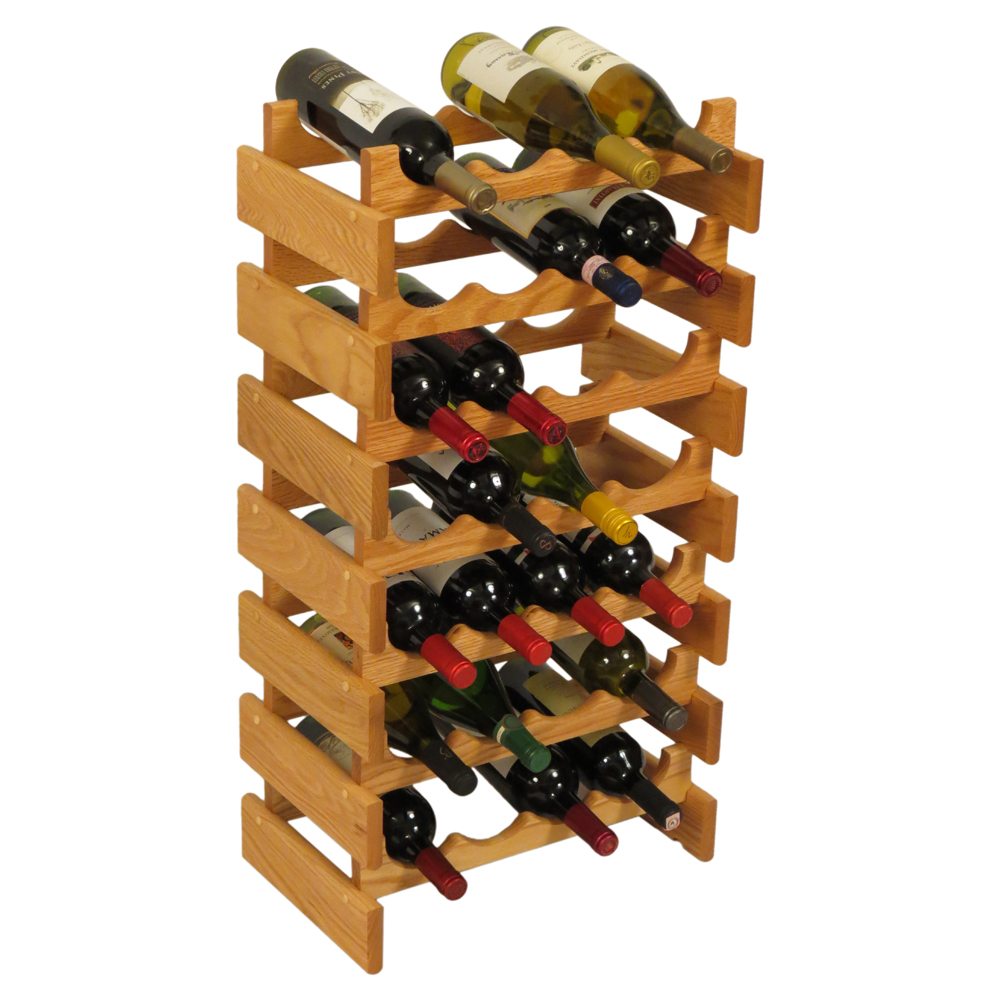 Wood wine rack bottle in racks