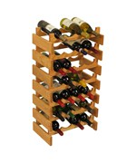 Wood Wine Rack - 28 Bottle