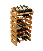 Wood Wine Display Rack - 28 Bottle