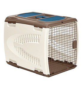 Large Pet Carrier - Taupe and Brown Image