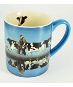 Coffee Mug - Cows and Farmer