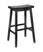 29 Inch Saddle Bar Stool - Black