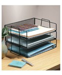 Black Mesh Stackable Paper Tray