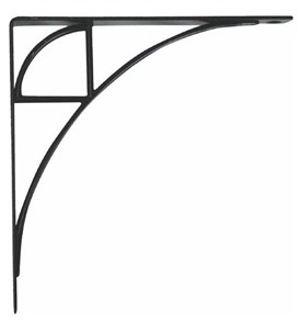 Oak Park 8 Inch Shelf Bracket - Black Image