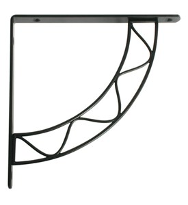 Stockton 8 Inch Shelf Bracket - Black Image
