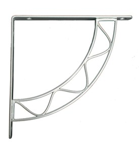 6 Inch Shelf Bracket - Satin Nickel Image