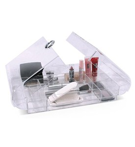 Large Folding Acrylic Cosmetic Organizer Image