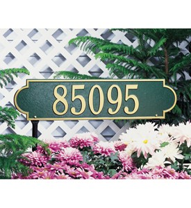 Richmond Horizontal Lawn Plaque - Estate One-Line Image