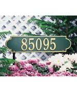 Richmond Horizontal Lawn Plaque - Estate One-Line