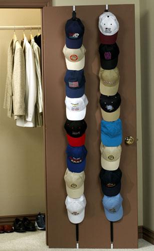 Over the door cap racks set of 2 in baseball hat racks for Diy door hat rack
