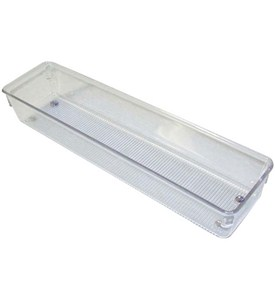 Narrow Clear Plastic Drawer Organizer - Large Image