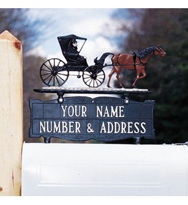 Address Mailbox Sign for Ornament - Two-Line Image