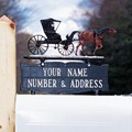 Address Mailbox Sign for Ornament - Two-Line