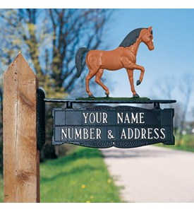 Address Post Sign for Ornament - One-Line Image