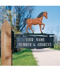 Address Post Sign for Ornament - One-Line