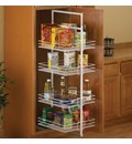 center mount pantry roll out system white - Kitchen Cabinet Shelving