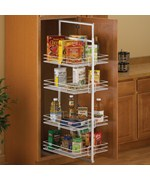 Center Mount Pantry Roll-Out System - White