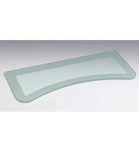 Concave Two-Tone Floating Glass Shelf Image