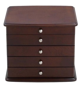 3-Drawer Mahogany Jewelry Chest Image