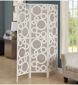 3 Panel Bubble Design Folding Screen by Monarch Specialties Image