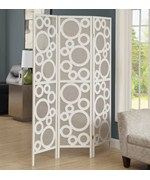 3 Panel Bubble Design Folding Screen by Monarch Specialties