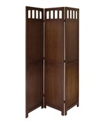 3 Panel Folding Screen - Antique Walnut