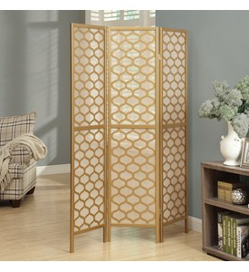 3 Panel Lantern Design Folding Screen by Monarch Specialties Image
