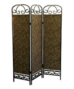 3-Panel Room Divider - Antique Gold