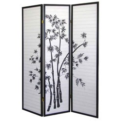 3-Panel Room Divider - Bamboo by O.R.E. Image