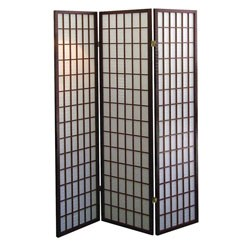 3-Panel Room Divider - Cherry by O.R.E. Image