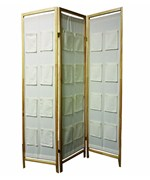 3-Panel Room Divider with Pockets