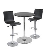 3-Pc Bar Table Set - Comes with 2 L-Shaped Bar Chairs