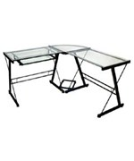 3-Piece Glass Corner Desk - 2 Finishes by Walker Edison