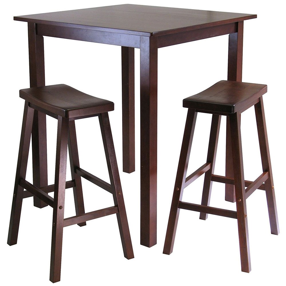 3 Piece Pub Table Dining Set In Bar Table Sets