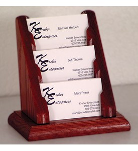 Business Card Holder - 3 Pocket Image