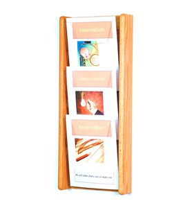 Wooden Magazine Rack - 3 Pocket Image