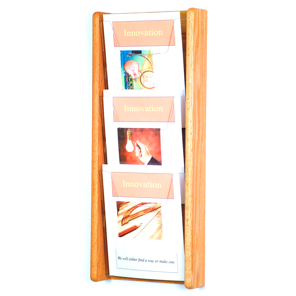 wooden magazine rack 3 pocket price