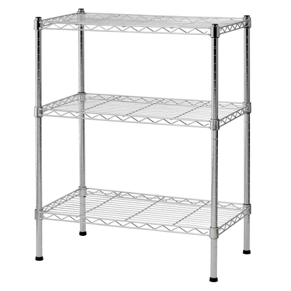 Chrome Wire Shelving Unit in Heavy Duty Storage Shelving