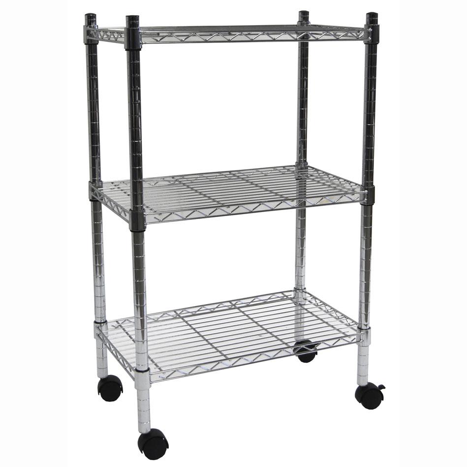 3 shelf heavy duty wire cart by edsal in heavy duty. Black Bedroom Furniture Sets. Home Design Ideas