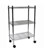 3 Shelf Heavy Duty Wire Cart by Edsal