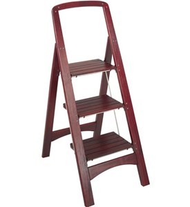 Wood Folding Step Stool Image